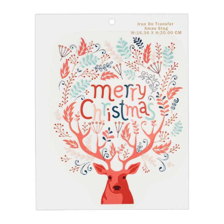 Maria George Christmas Stag Iron on Transfer