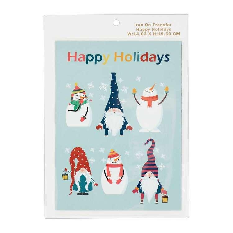 Maria George Christmas Happy Holidays Iron on Transfer