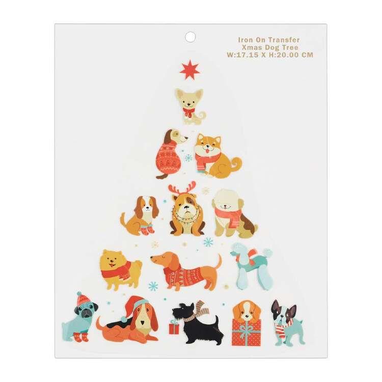 Maria George Dog Christmas Tree Iron on Transfer