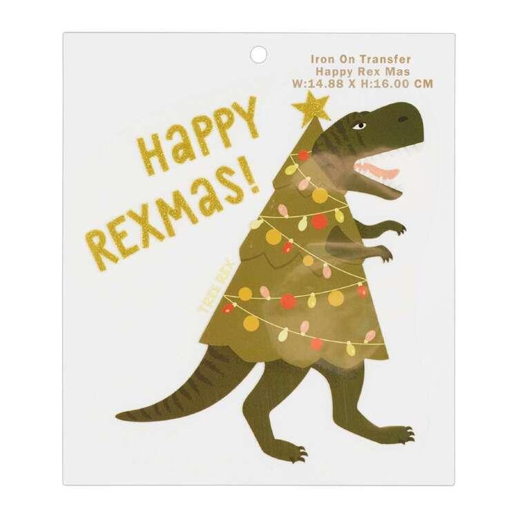 Maria George Happy Rexmas Christmas Iron on Transfer