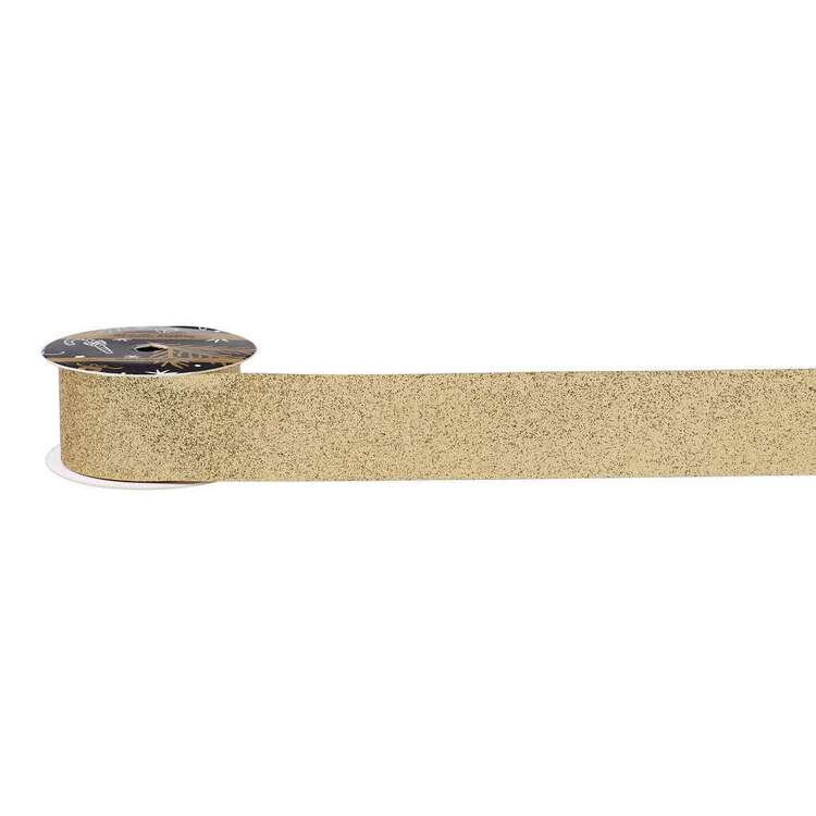 Glitter Allover Metallic Ribbon
