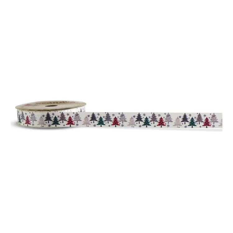 Check Trees Scandi Christmas Ribbon