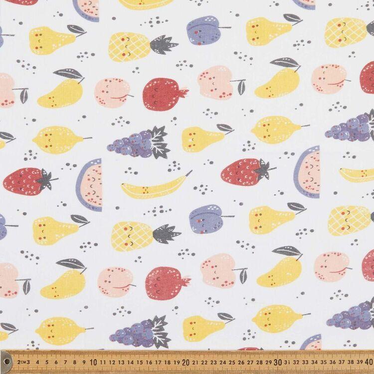 Happy Fruit 120 cm Multipurpose Cotton Fabric
