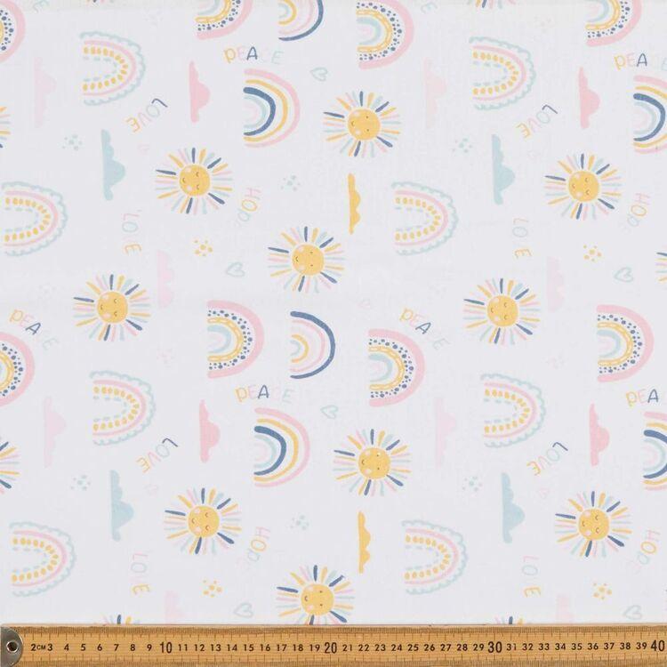 Sunshine & Rainbows 120 cm Multipurpose Cotton Fabric