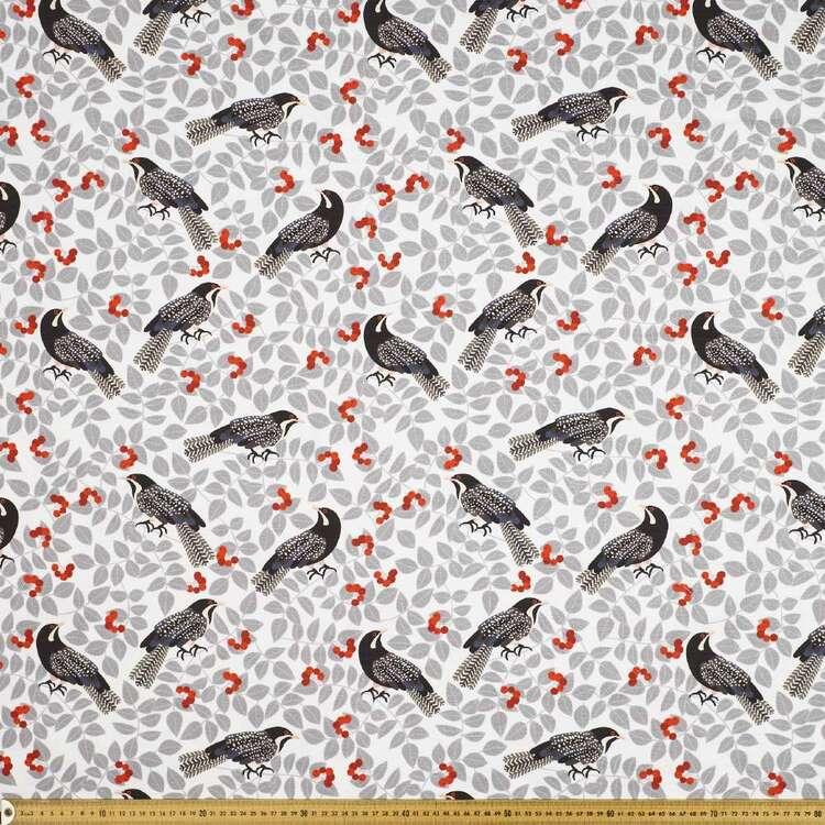 Jocelyn Proust 150 cm Koel Bird Cotton Canvas Fabric