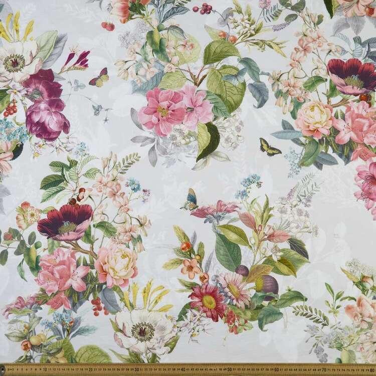 Clementine 150 cm Floral Cotton Canvas Fabric
