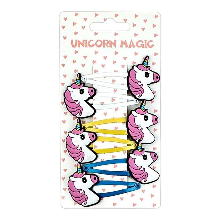 Unicorn Magic Unicorns Snap Clip 6 Pack