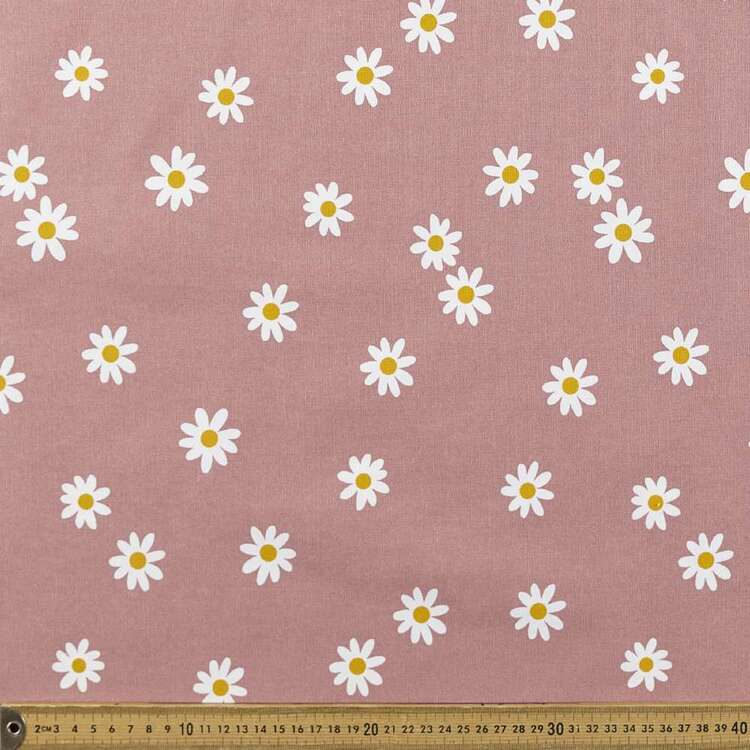 Small Daisy Printed 112 cm Buzoku Duck Fabric