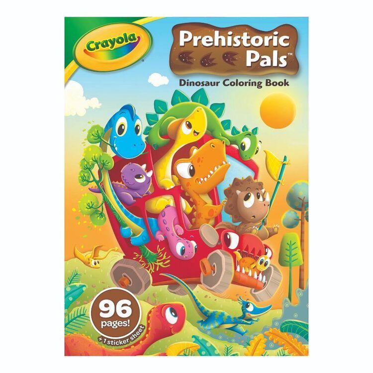 Crayola Prehistoric Pals Dinosaur 96 Pages Colouring Book