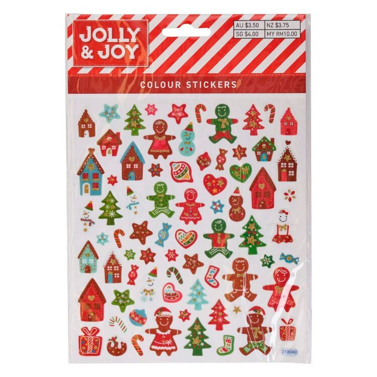 Jolly & Joy Gingerbread Colour Stickers