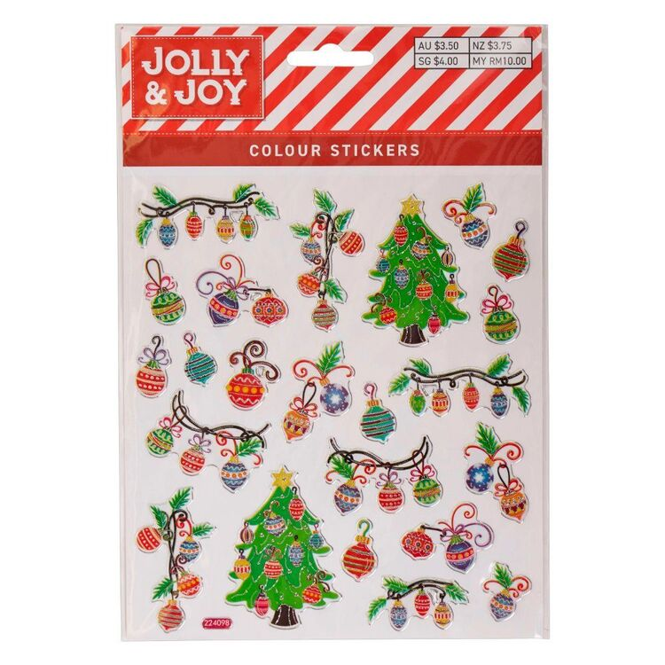 Jolly & Joy Swirly Bauble Tree Colour Stickers
