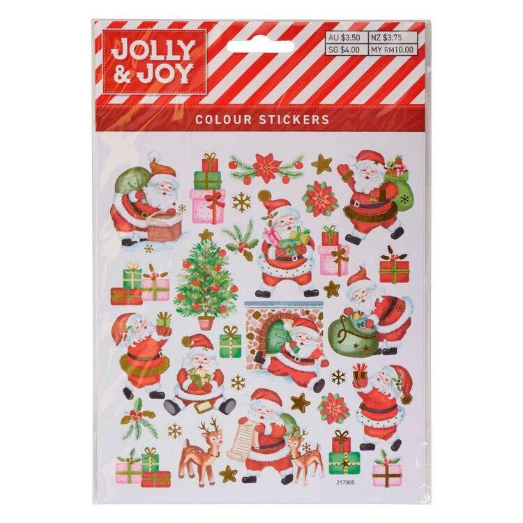 Jolly & Joy Santa's Presents Colour Stickers