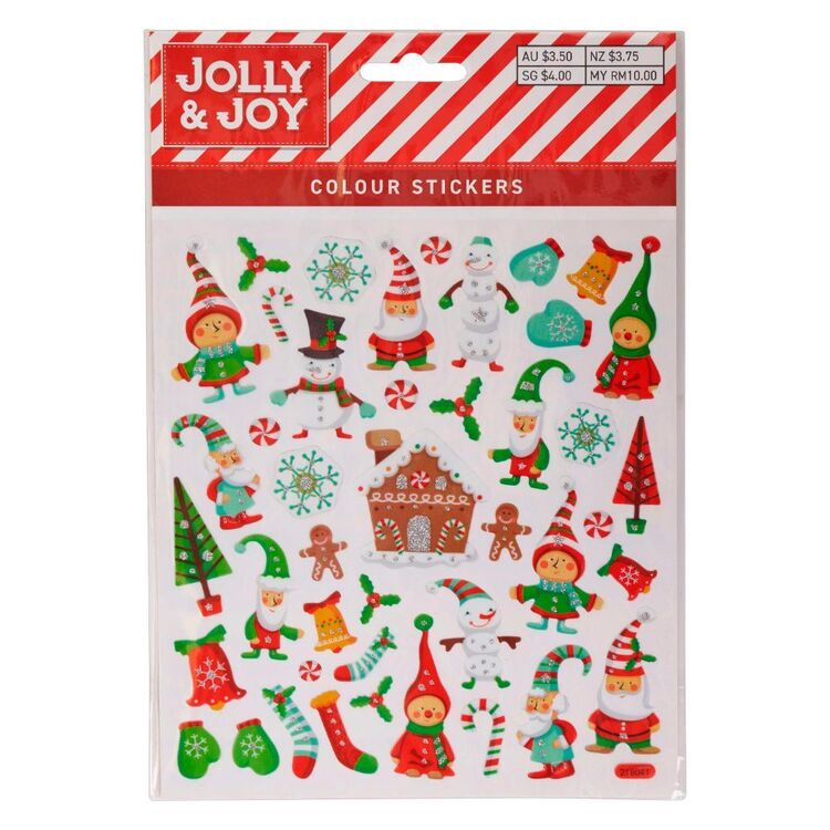 Jolly & Joy Gingerbread House Colour Stickers