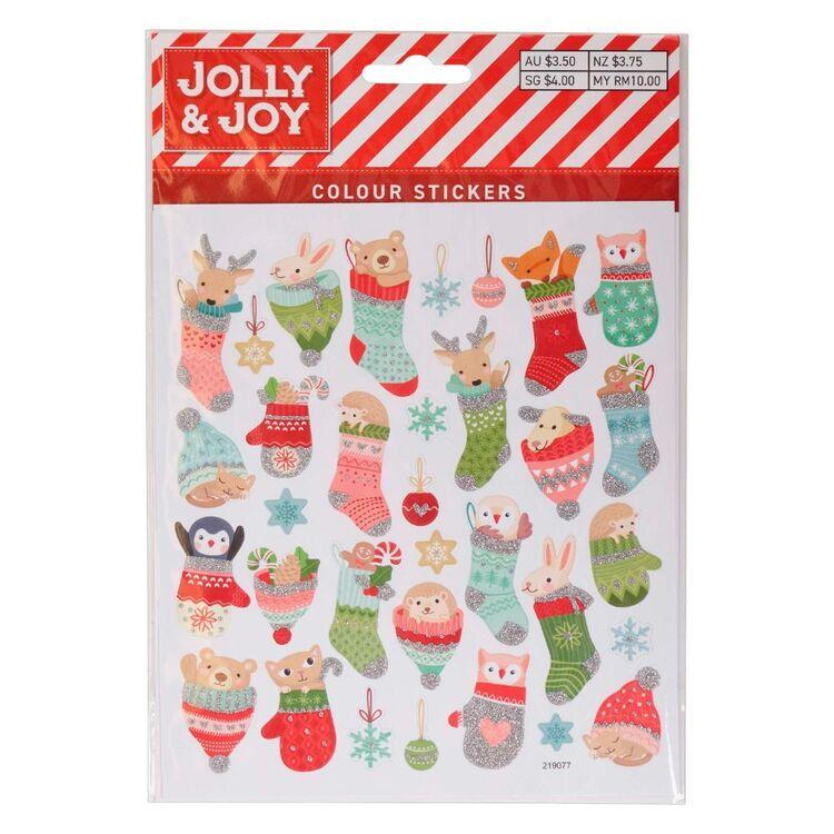 Jolly & Joy Animal Stocking Colour Stickers