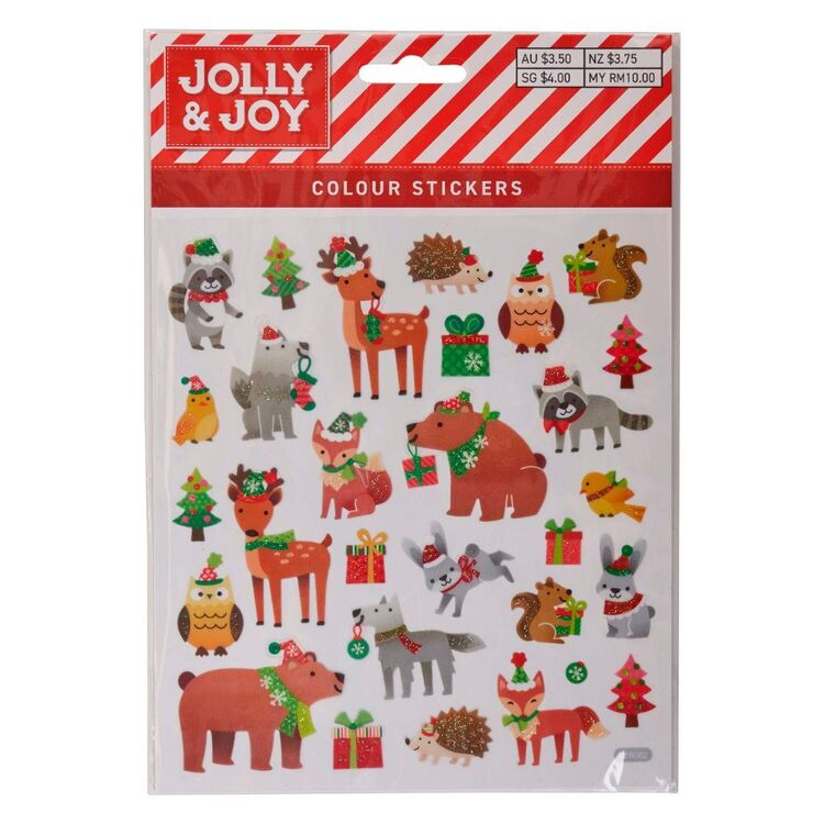 Jolly & Joy Woodland Animals Colour Stickers