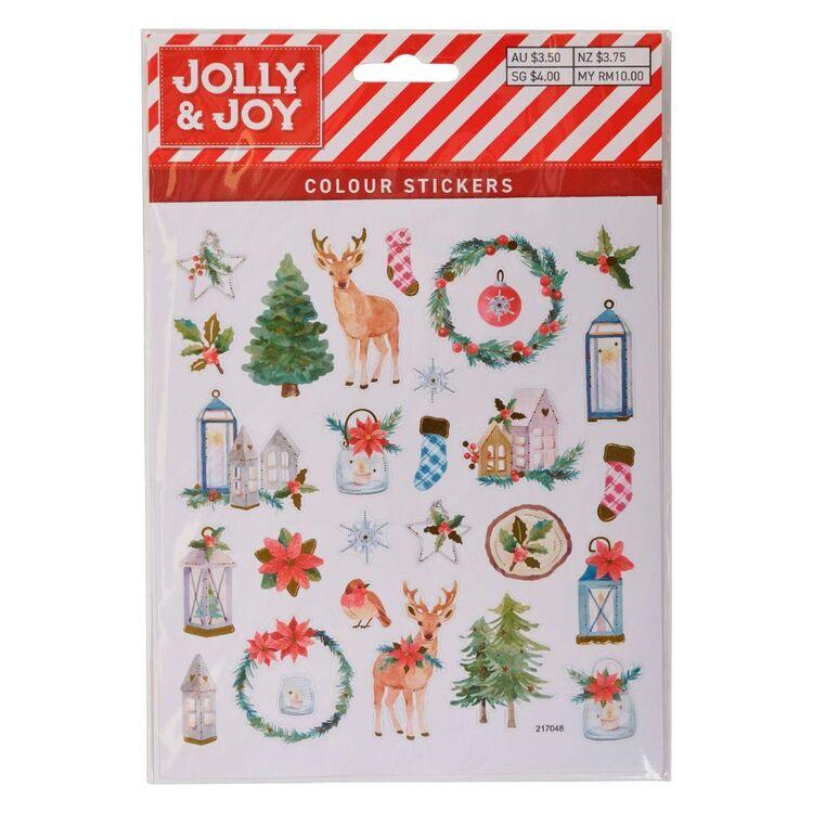 Jolly & Joy Lantern Deer Colour Stickers