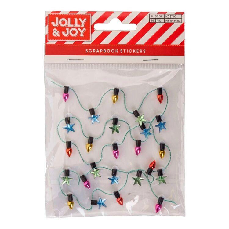 Jolly & Joy Christmas Lights Scrapbook Stickers