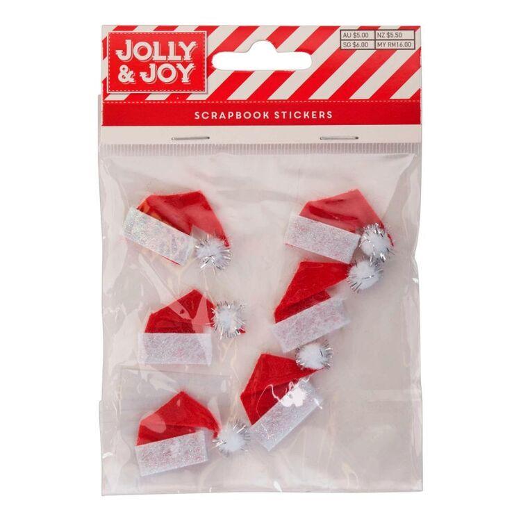 Jolly & Joy Santa Hat Scrapbook Stickers