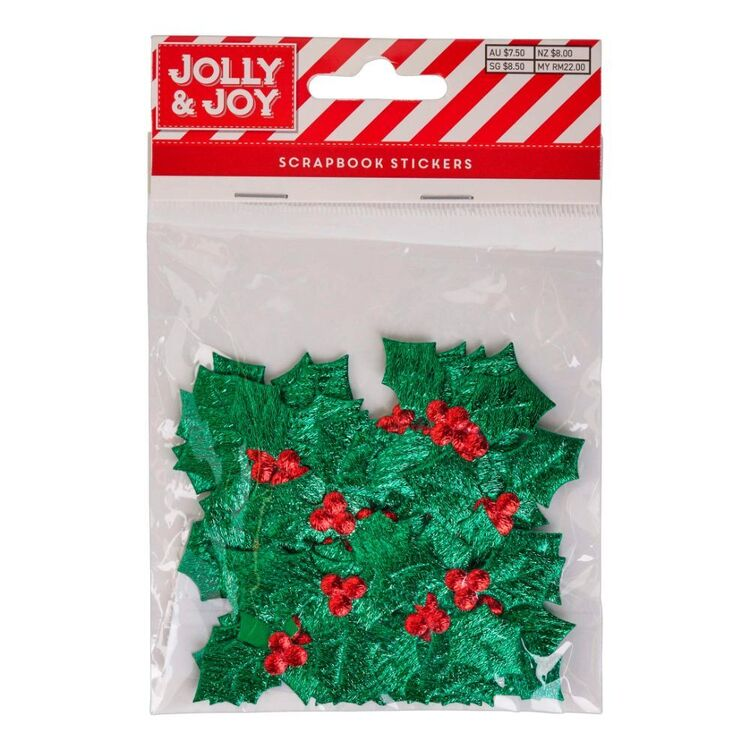 Jolly & Joy Holly Scrapbook Stickers