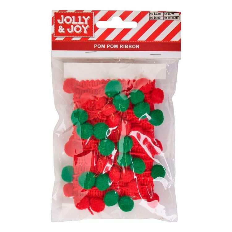 Jolly & Joy 2 m Pom Pom Ribbon