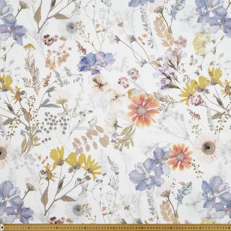Evie 150 cm Floral Cotton Canvas Fabric