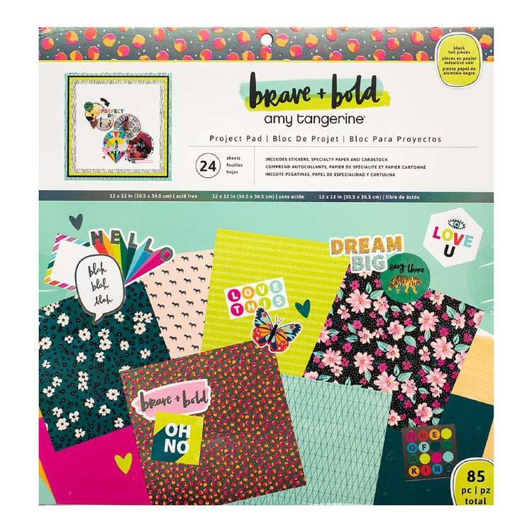 American Crafts Amy Tangerine Brave & Bold 12 x 12 in Project Pad