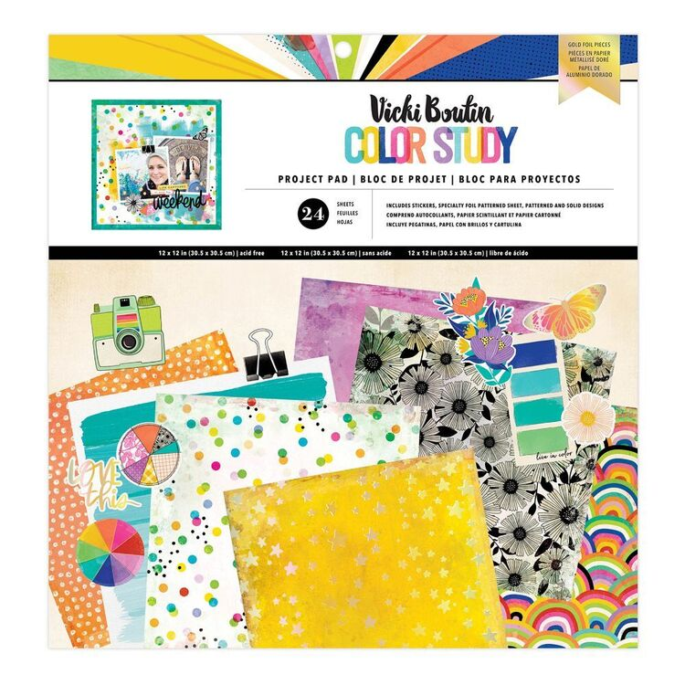American Crafts Vicki Boutin Color Study 12 x 12 in Project Pad