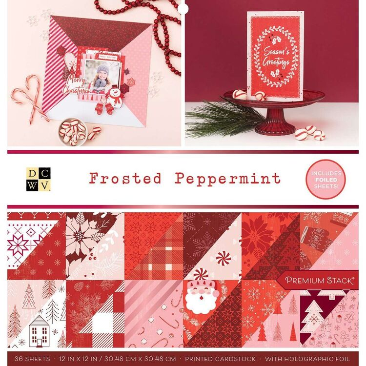 Die Cuts With A View Frosted Peppermint 12 x 12 in Paper Pad