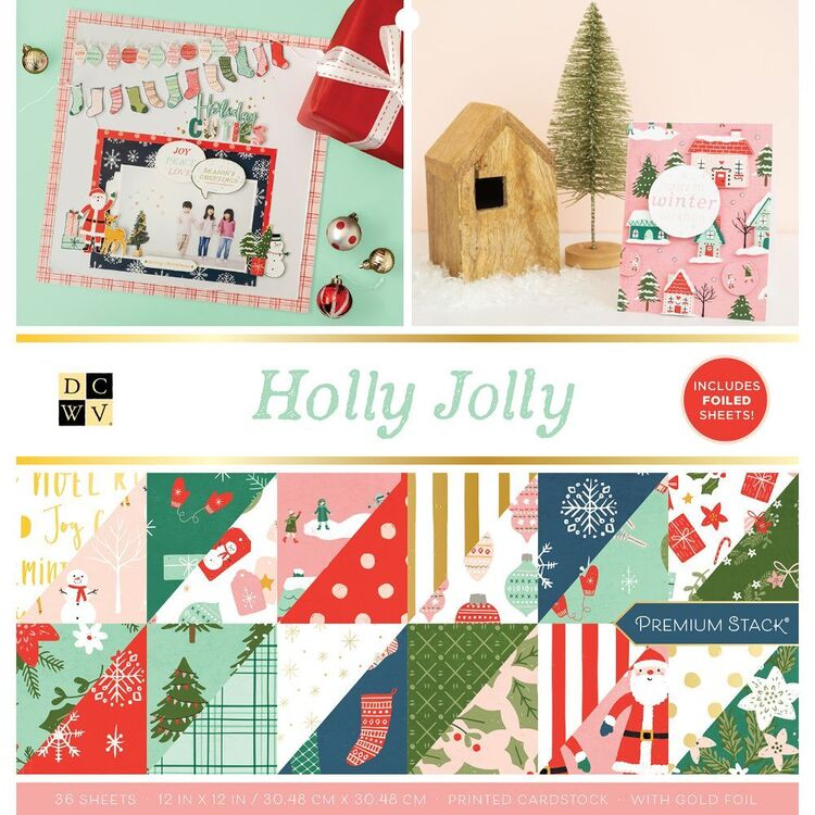 Die Cuts With A View Holly Jolly 12 x 12 in Paper Pad