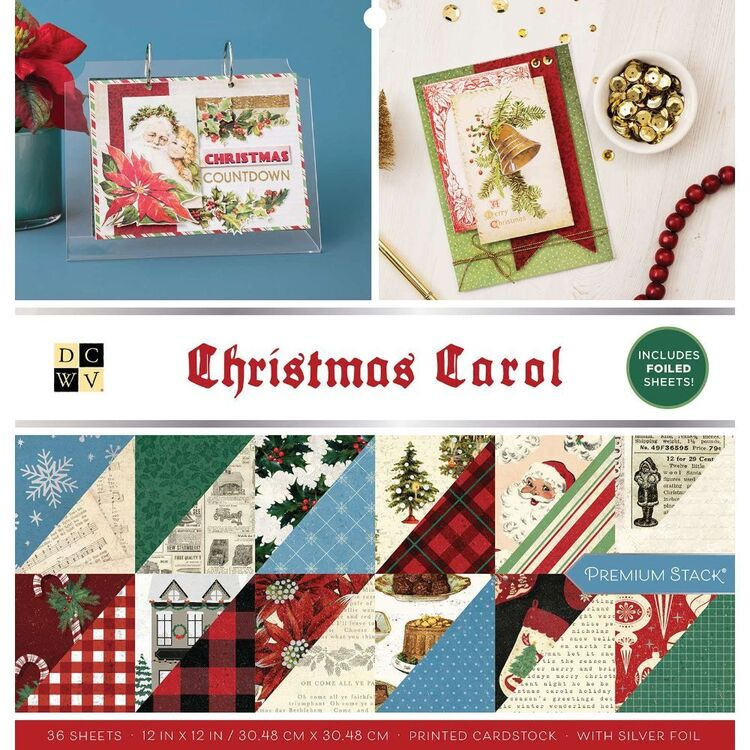 Die Cuts With A View Christmas Carol 12 x 12 Paper Pad