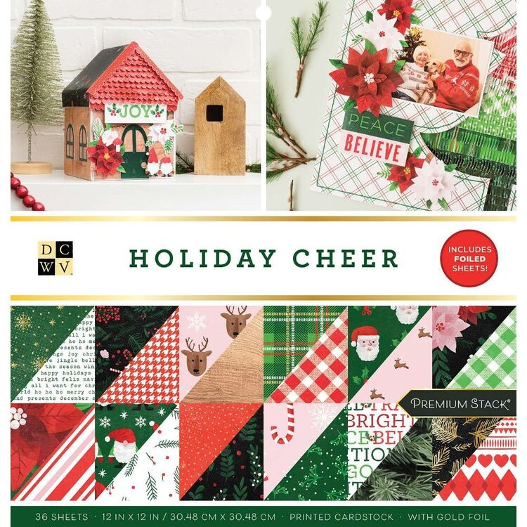 Die Cuts With A View Holiday Cheer 12 x 12 Paper Pad