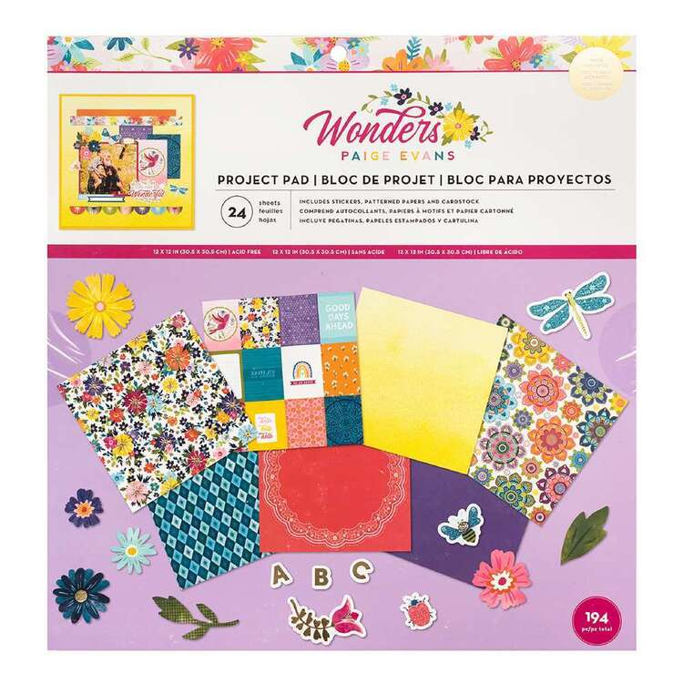 American Crafts Pagie Evans Wonders 12 x 12 in Project Pad