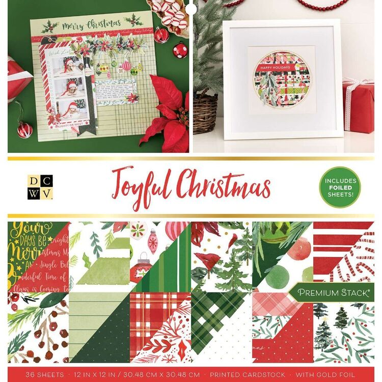 Die Cuts With A View Joyful Christmas 12 x 12 Paper Pad