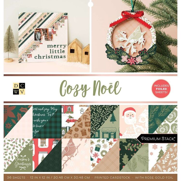 Die Cuts With A View Cozy Noel 12 x 12 Paper Pad