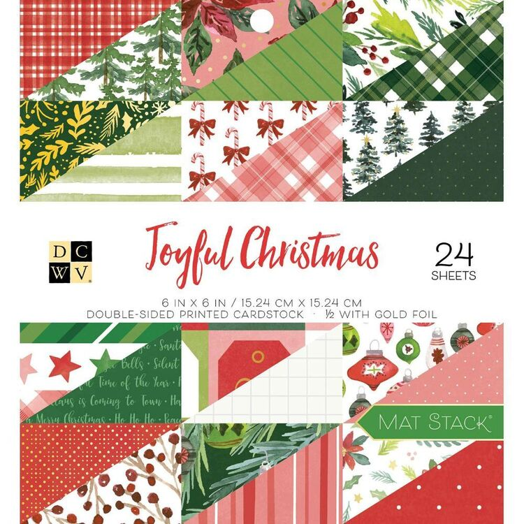 Die Cuts With A View Joyful Christmas 6 x 6 in Paper Pad