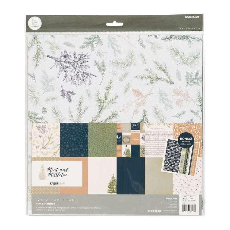 Kaisercraft 12 x 12 in Mint & Mistletoe Paper Pad