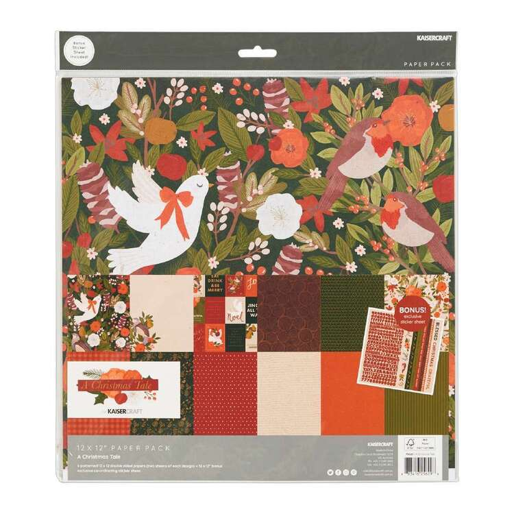 Kaisercraft 12 x 12 in A Christmas Tale Paper Pad