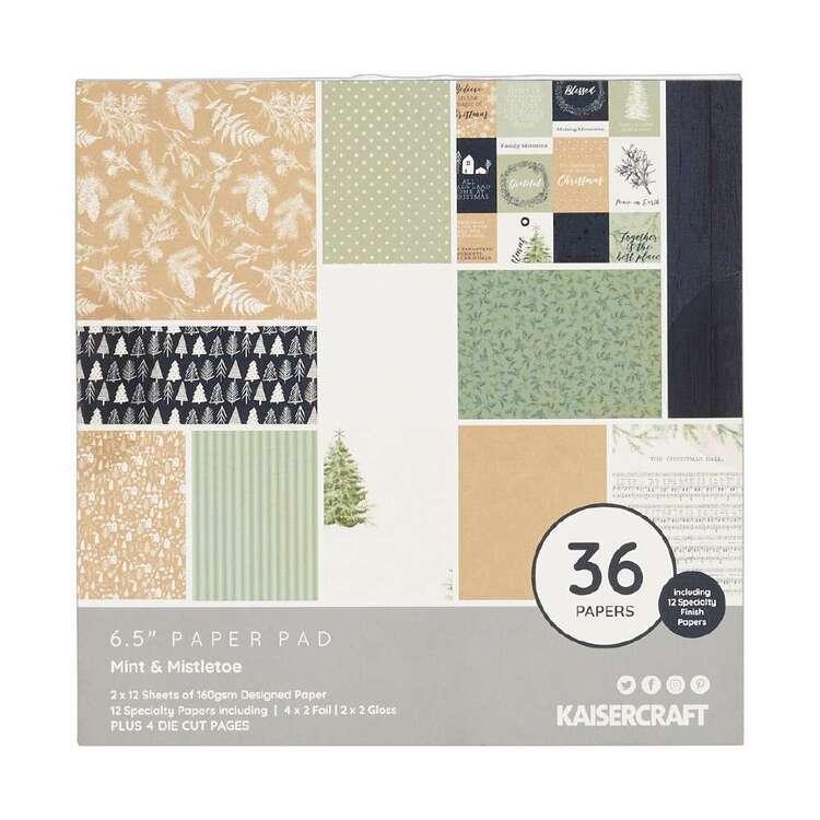 Kaisercraft 6 x 6 in Mint & Mistletoe Paper Pad