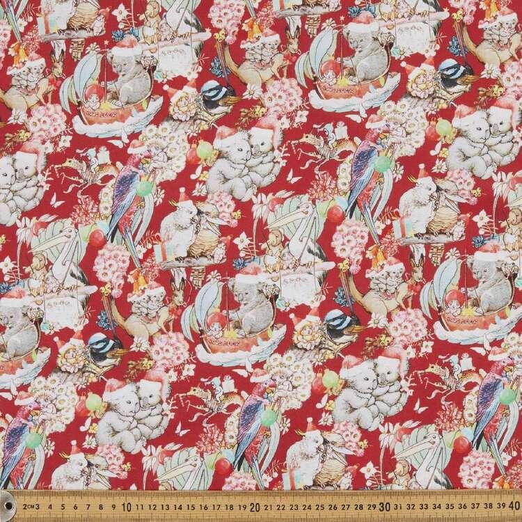 May Gibbs Christmas Tis The Season Printed 112 cm Homespun Cotton Fabric