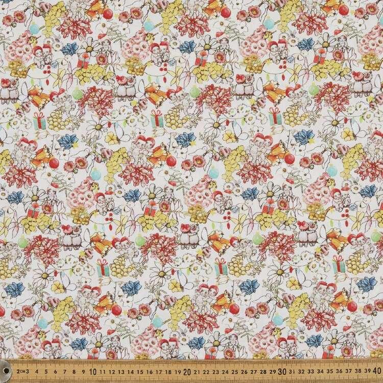 May Gibbs Gumnut Christmas Printed 112 cm Homespun Cotton Fabric