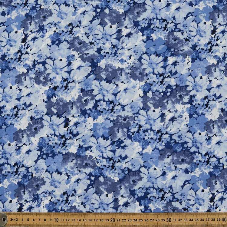 Tranquillity Flowers Printed 135 cm Rayon Fabric