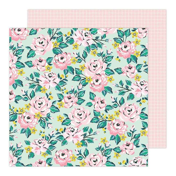 American Crafts 12 x 12 in Pink Floral Paper Pad