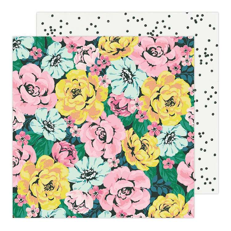 American Crafts 12 x 12 in Bold Floral Paper Pad