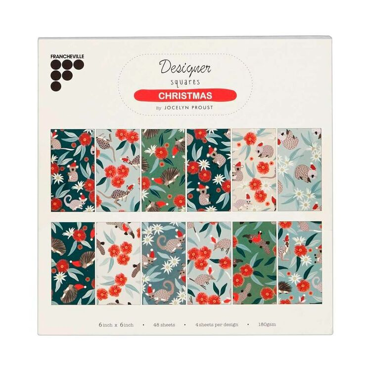 Francheville Jocelyn Proust Christmas Animals 6 x 6 in Paper Pad