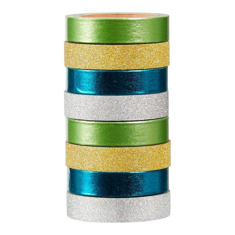 Francheville Gold Teal Washi Tape 8 Pack