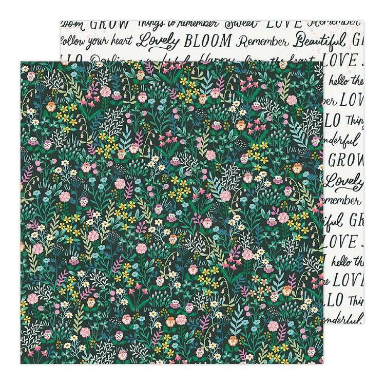 American Crafts 12 x 12 in Forest Floral Paper Pad