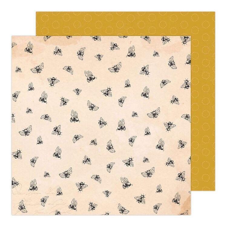 American Crafts Garden Party Honey Bee 12 x 12 in Paper Pad