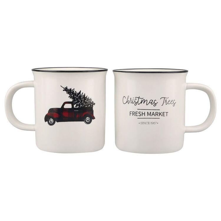 Bouclair Black Nostalgia Set of 2 Mugs