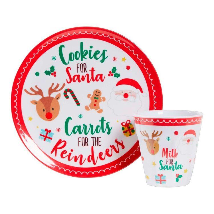Living Space Festive Santa Plate & Tumbler Set