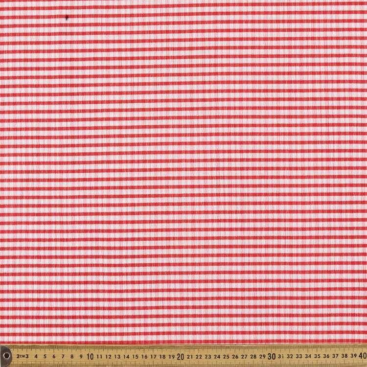 Gingham Check #1 Printed 150 cm Elastane Seersucker Fabric